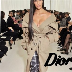 Dior tan Trench Rain coat